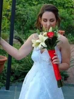 Ilana Wedding MakeUp Flowers