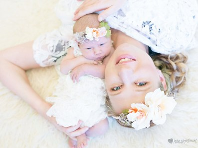 Chanele Newborn Shoot MakeUp Flowers