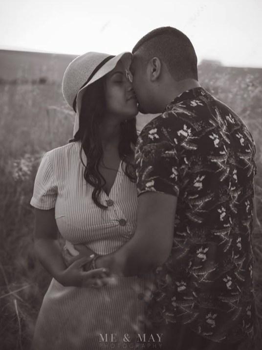 Chavonay Engagement Shoot MakeUp Kiss