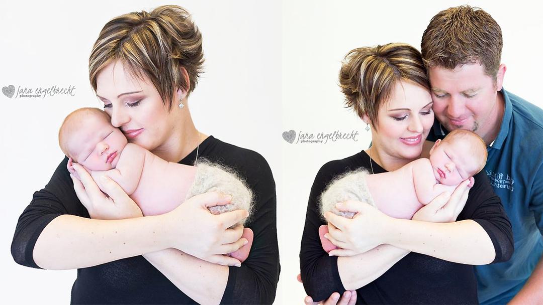 Stephanie Ackerman Newborn Shoot MakeUp Feature