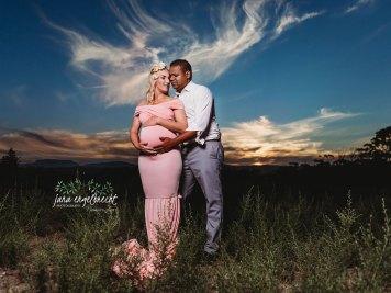 Nora Maternity Shoot MakeUp Couple Sunset