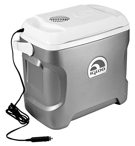 Igloo Iceless Thermoelectric Cooler (Silver/White, 28-Quart
