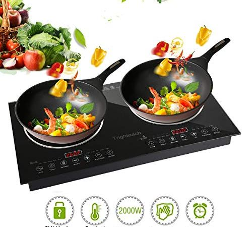 Trighteach Induction Cooktop Double Countertop
