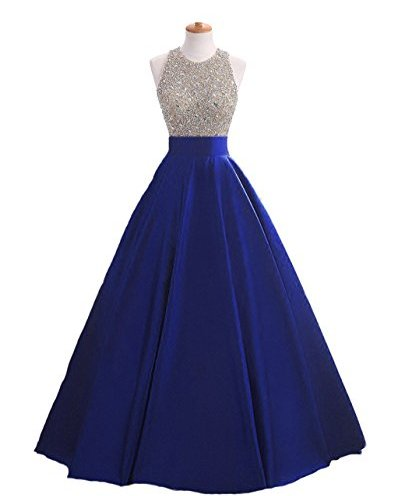 fb05bf61e5d HEIMO Women s Sequins Keyhole Back Evening Ball Gown Beaded Prom Formal  Dresses Long H095