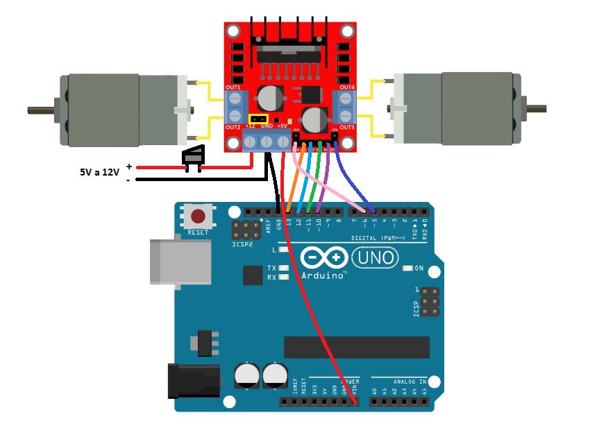 Resultado de imagen de esquema conconexiones de coche arduino