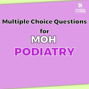 Multiple Choice Questions For MOH Podiatry