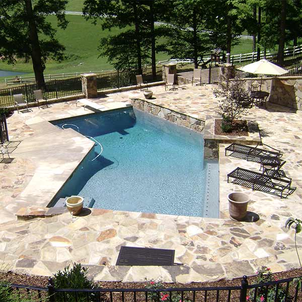 Pool and Hot Tub Landscape Design Photos