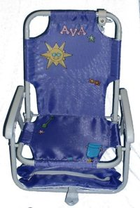 Hand Painted Beach Chair Purple  Promises Fulfilled