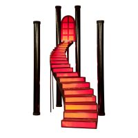 Cinnamon Twist Staircase and Columns Kit | Prom Nite