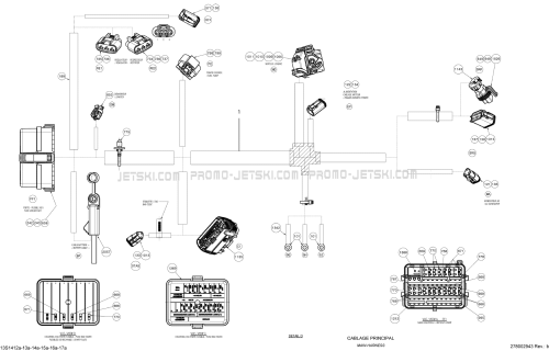 small resolution of 10 electrical harness main harness 13s1416a seadoo wake 155 2014 2014 pi ces oem