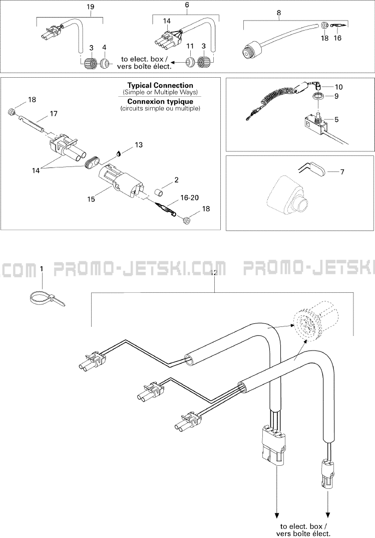 10- Electrical Accessories pour JetSki Seadoo HX, 5881