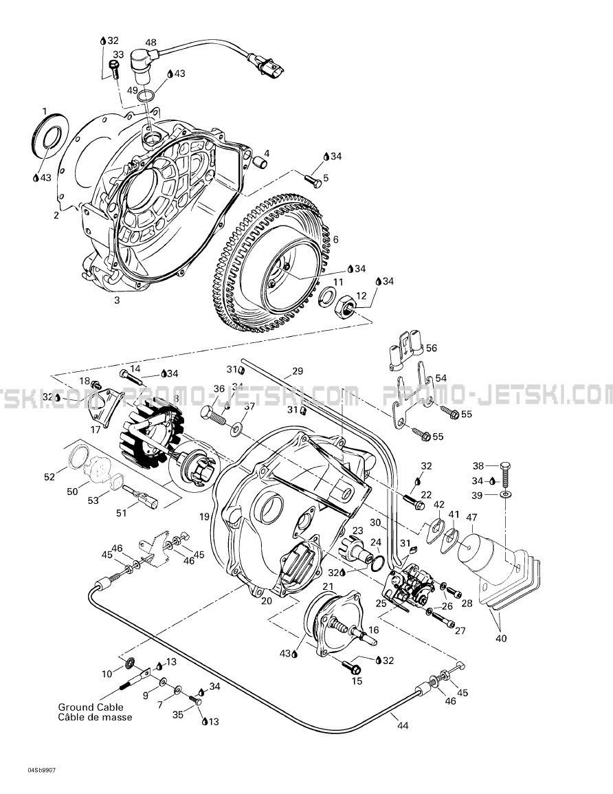 03- Magneto, Oil Pump for Seadoo GTX RFI, 5886 5887, 1999