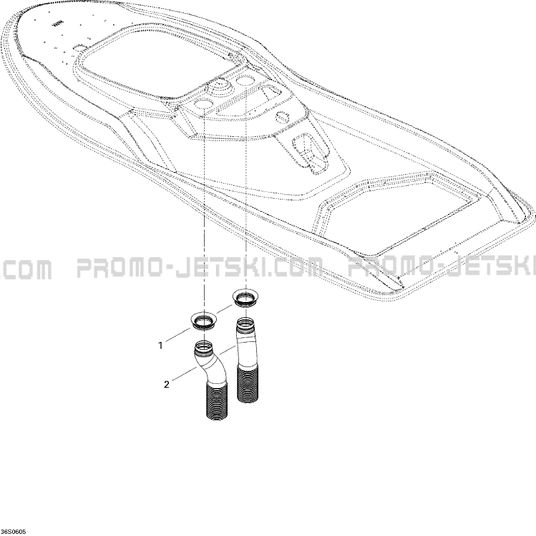 09- Ventilation pour JetSki Seadoo 3D 947 DI, 2006 2006