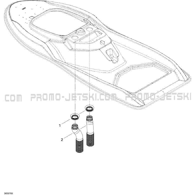 09- Ventilation pour JetSki Seadoo 3D 947 DI, 2007 2007