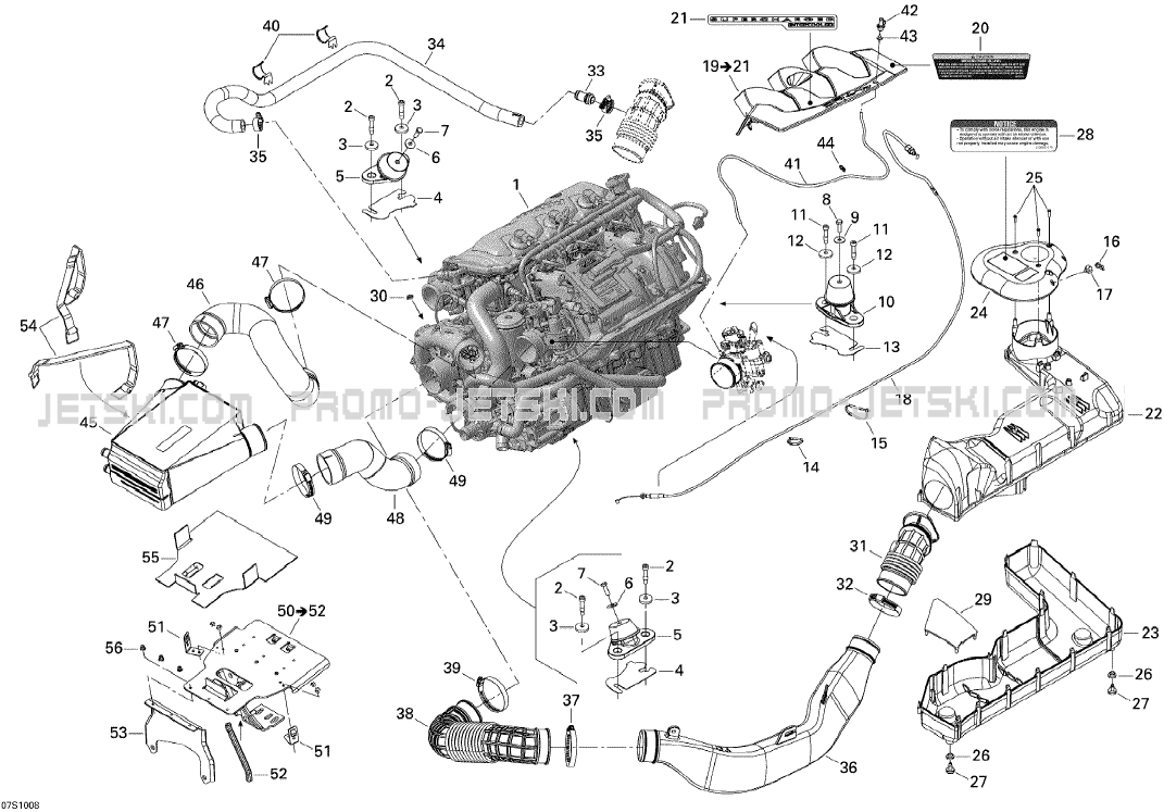01- Engine for Seadoo RXP-X 255 and 255 RS, 2010 2010