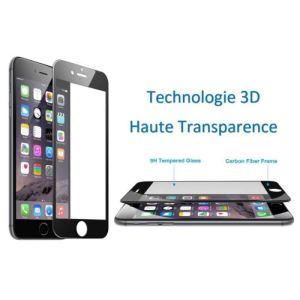 Verre Blindé 3D trempé IPhone 6 /6S /6 Plus Blanc / Noir