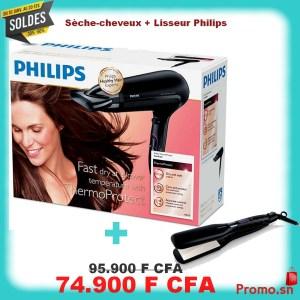 Sèche-cheveux Philips Compact et ergonomique + Lisseur de cheveux
