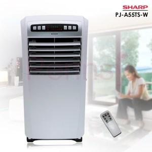 Ventilateur Sharp mobile refroidissement humidification avec Télécommande NP