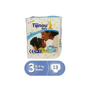Couches Bébé 36 pièces Tijinou 1er age 3/6kg