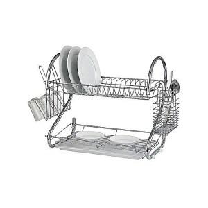 Egouttoir vaisselle Avec Bac Amovible 2 Niveaux de rangement