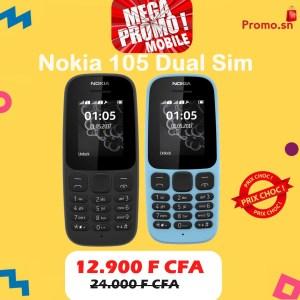 Nokia 105 Dual Sim Ecran 1,8 Pouces