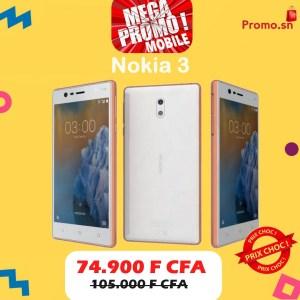 Nokia 3 Dual Sim Ecran 5 Pouces Mémoire 16 Go  Ram 2Go Connexion 4G LTE MPM