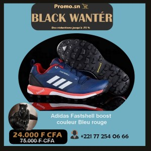 Adidas Fastshell boost couleur Bleu rouge