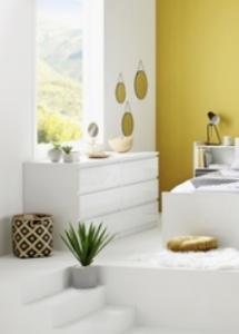 commode 2x3 tiroirs best lak blanc promo but