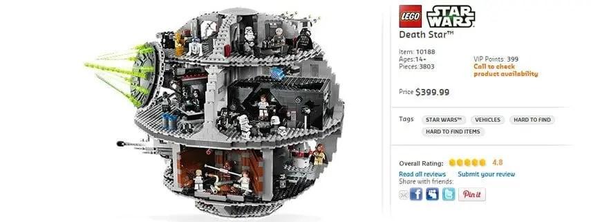 Luft der LEGO Star Wars Todesstern (10188) bald aus