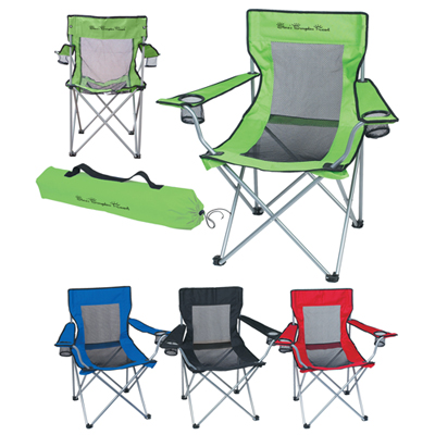 folding bag chair used black covers custom chairs outdoor promo direct mesh with carrying