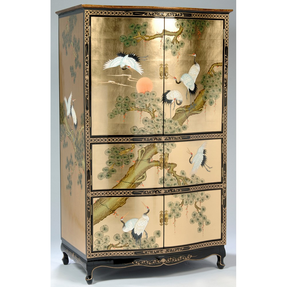 armoire chinoise tv laque meubles chinois laques