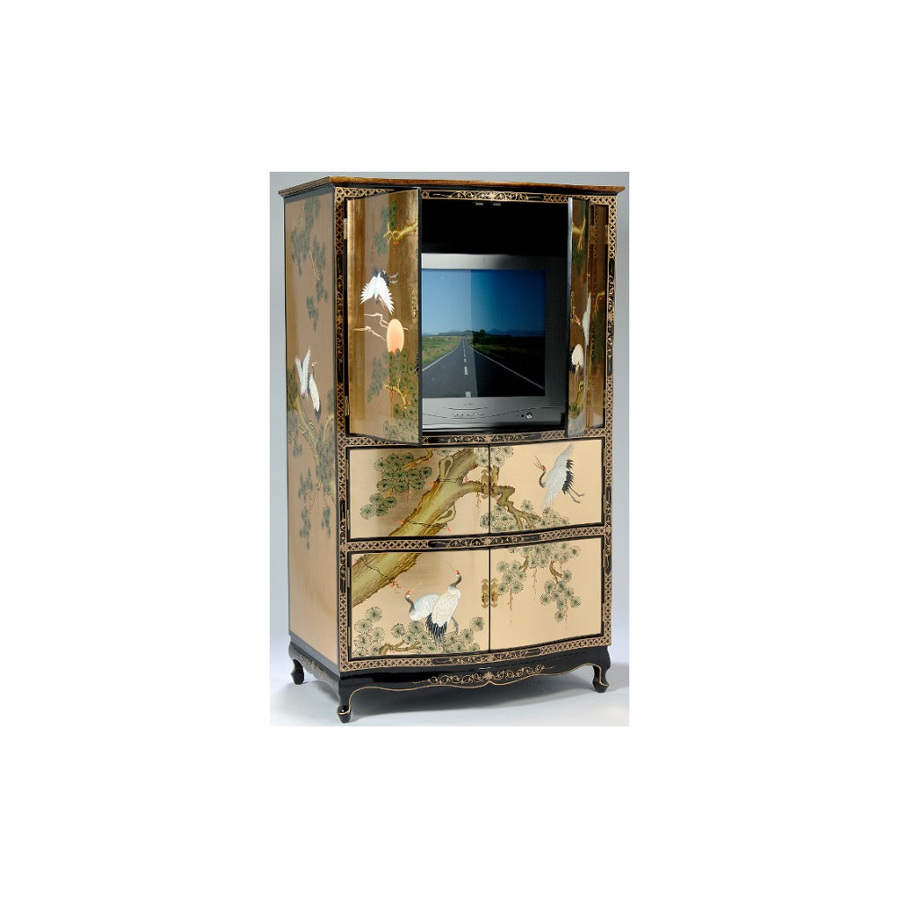 Armoire Chinoise TV Laque PromoDiscountMeubles Magasin