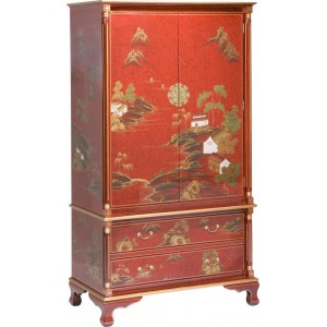 armoire chinoise laque rouge meubles chinois laques