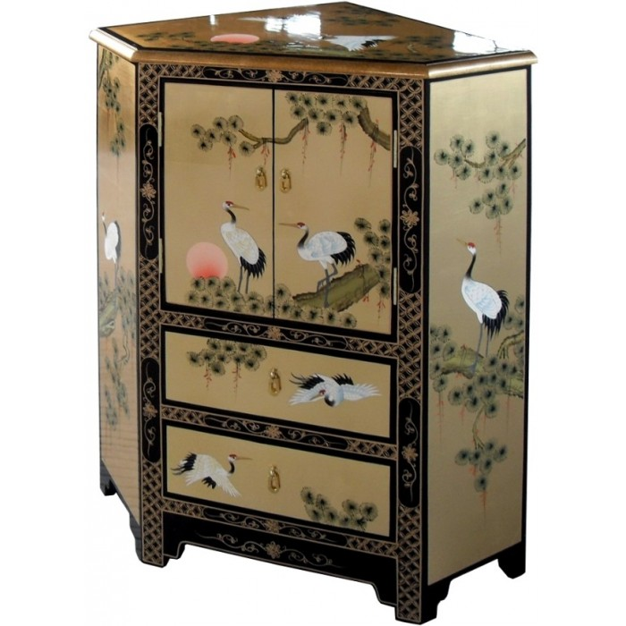 meuble chinois d angle laque d or meubles chinois laques