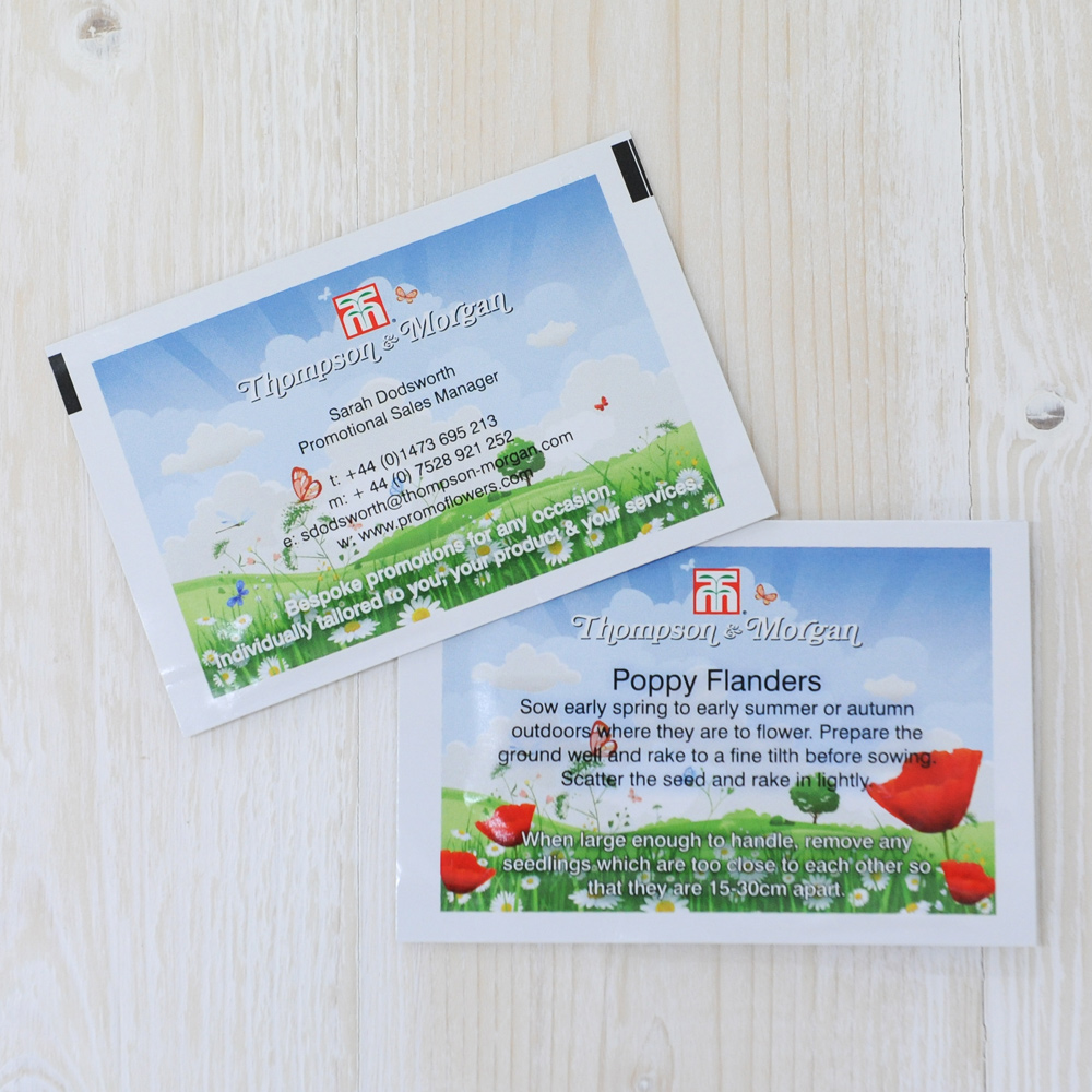 Ideas and Inspirations | Promotional Seed Packets | Bespoke Custom ...