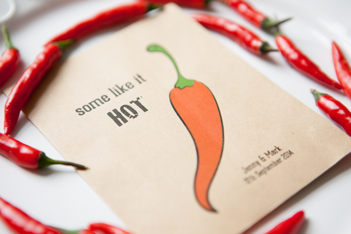 Chilli Some Like It Hot WEdding Favours