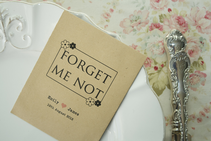 Forget Me Not Wedding Favour