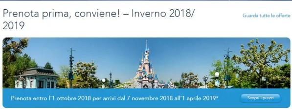 Disneyland Paris Offerta Hotel + Biglietto Inverno 2018/ 2019