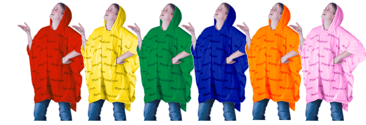 Plain Coloured ponchos