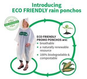 Eco disposable poncho