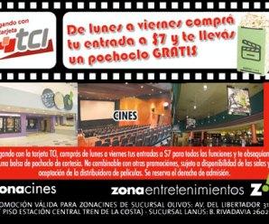 Con TCI $7 en Zona cines