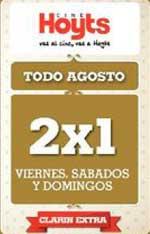 Hoyts 2 x 1 con cupón de Clarín