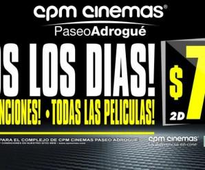 El cine CPM Adrogué tiene las entradas a $70 todos los días