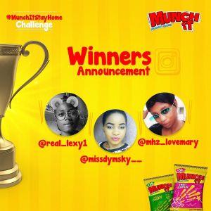 Winners of Munch It #StayHomeChallenge