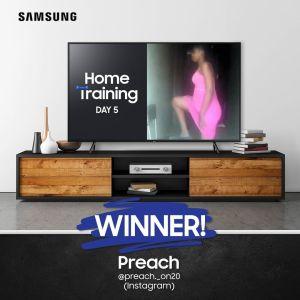 Day 5 Winner of Samsung Home Training Challenge