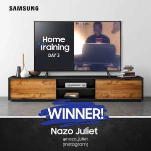 Nazo Juliet is the DAY 3 Winner of Samsung Home Training Challenge.