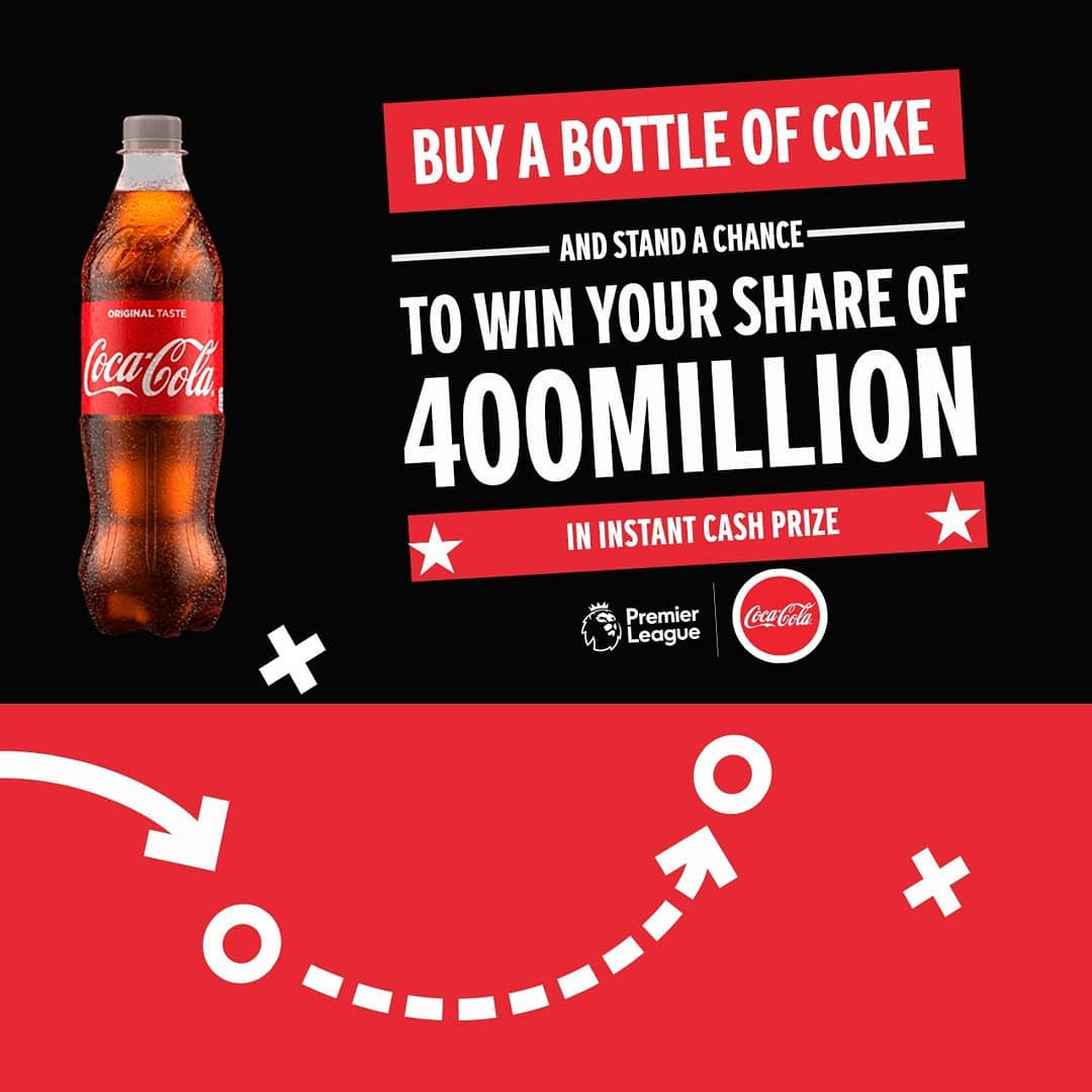 Coca Cola Promo 2020, Dial *4255*55*UTCODE, Over N400Million Cash to be Won.
