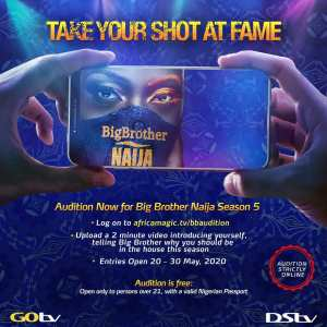 Take a Shot at Fame,  Audition For Big Brother Naija Season 5.
