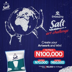 N100,000 Cash For Grabs in Dangote Salt Creative Art Contest.