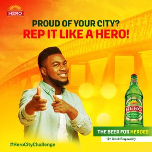 Hero Lager #RepYourCity Challenge, Featuring @Zoroswagbag Loads of Pizes for Grabs